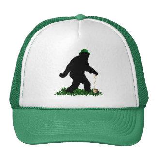 St Patrick's Day Lucky Sasquatch Trucker Hat