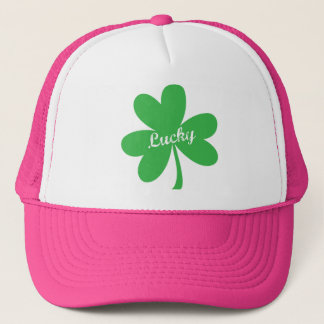 St. Patrick's Day Lucky Shamrock Trucker Hat