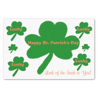 St. Patrick's Day Lucky Shamrocks Tissue Paper