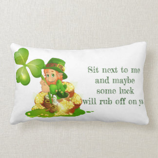 St. Patrick's Day Lumbar Pillow-Leprechaun Lumbar Pillow