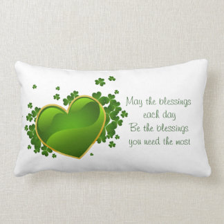 St. Patrick's Day Lumbar Pillow-May The Blessings Lumbar Pillow