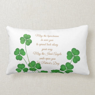 St. Patrick's Day Lumbar Pillow-May The Leprechaun Lumbar Pillow