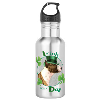 St. Patrick's Day Mini Bull Terrier 532 Ml Water Bottle