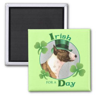 St. Patrick's Day Mini Bull Terrier Magnet
