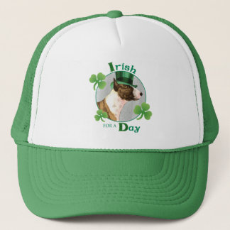 St. Patrick's Day Mini Bull Terrier Trucker Hat