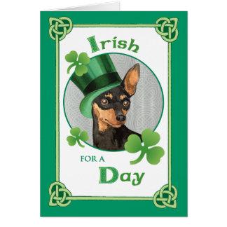 St. Patrick's Day Miniature Pinscher Card