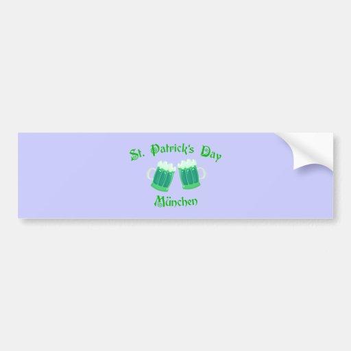 St. Patrick's Day Munich Bumper Stickers
