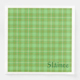 St Patrick's day napkin, Sláinte Irish party green Paper Dinner Napkin