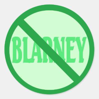 St. Patrick's Day No Blarney Allowed Round Sticker