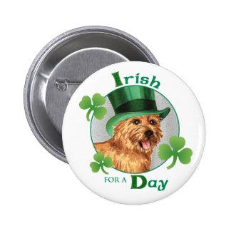 St. Patrick's Day Norwich Terrier 2 Inch Round Button