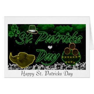 St. Patricks Day Note Card