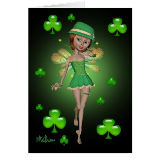 St. Patrick's Day Note Card - Irish Pixie