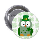 St. Patrick's Day Owl Buttons