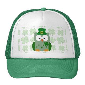 St. Patrick's Day Owl Trucker Hats