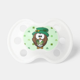 St. Patrick's Day owl Baby Pacifiers