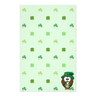 St. Patrick's Day owl Stationery Paper