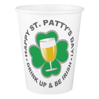 St. Patrick's Day paper cups