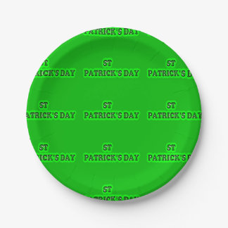 """ST PATRICK'S DAY  Paper Plates 7"""""""