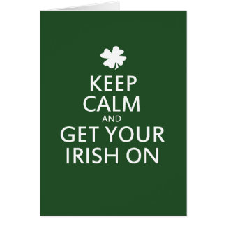 St Patricks day Parody Note Card