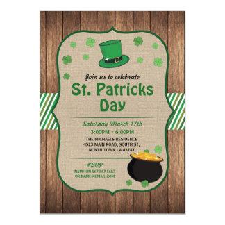 St Patricks Day Party Invite Irish Shamrock