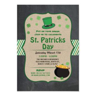 St. Patricks Day Party Invite Irish Shamrock