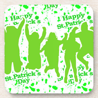 St Patricks Day Party Poster Beverage Coasters