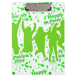 St Patricks Day Party Poster Clipboards