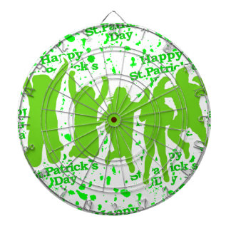 St Patricks Day Party Poster Dartboard With Darts