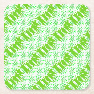 St Patricks Day Party Poster Square Paper Coaster