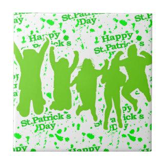 St Patricks Day Party Poster Tile