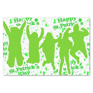 St Patricks Day Party Poster Tissue Paper