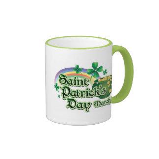 St. Patricks Day Party Shamarock Coffee MUGS