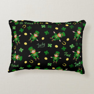 St Patricks day pattern Accent Pillow