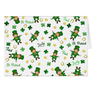 St Patricks day pattern Card