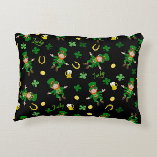 St Patricks day pattern Decorative Pillow