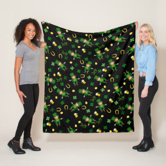 St Patricks day pattern Fleece Blanket