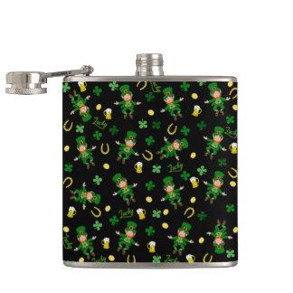 St Patricks day pattern Hip Flask