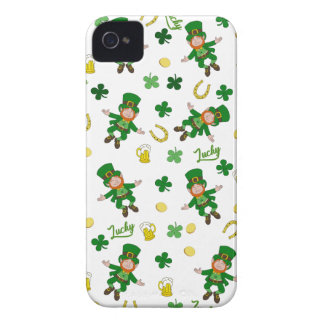 St Patricks day pattern iPhone 4 Case-Mate Case