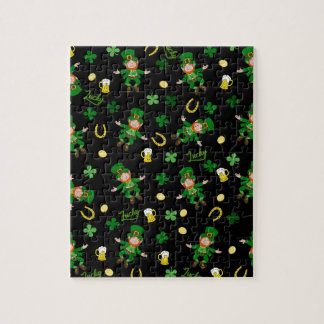 St Patricks day pattern Jigsaw Puzzle