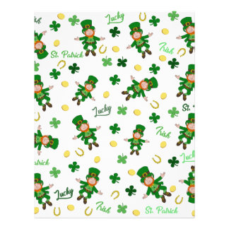 St Patricks day pattern Letterhead