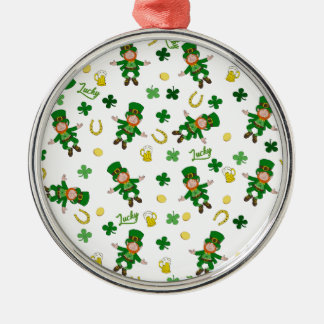 St Patricks day pattern Metal Ornament