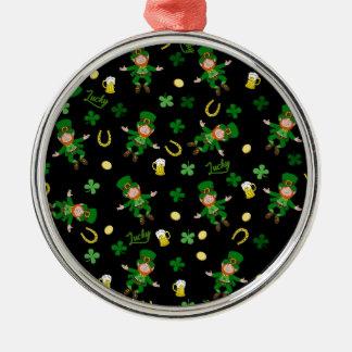 St Patricks day pattern Metal Ornament