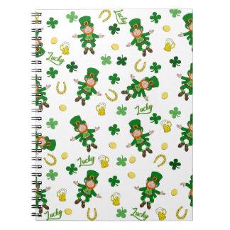 St Patricks day pattern Notebook
