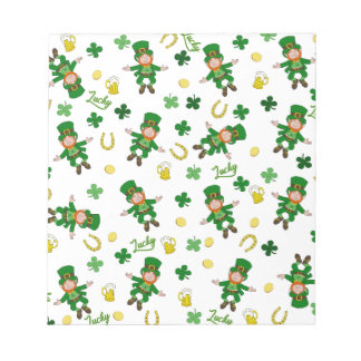 St Patricks day pattern Notepad