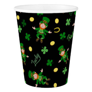 St Patricks day pattern Paper Cup