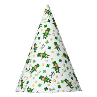 St Patricks day pattern Party Hat