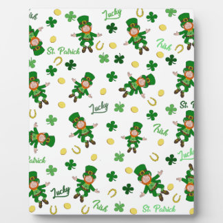 St Patricks day pattern Plaque