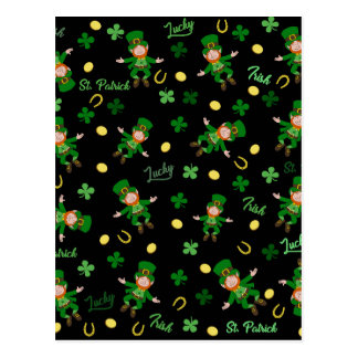 St Patricks day pattern Postcard