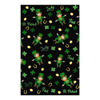 St Patricks day pattern Stationery