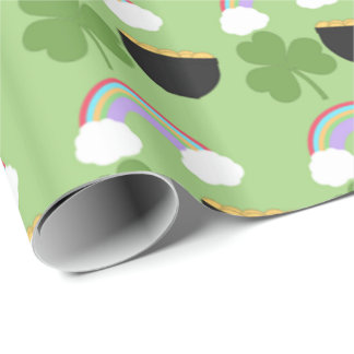 St. Patrick's Day Pattern Wrapping Paper